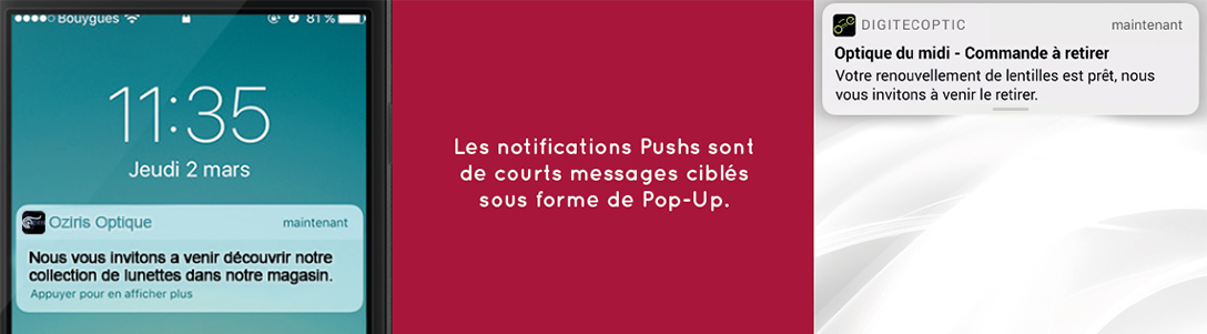 notification push sur mobile